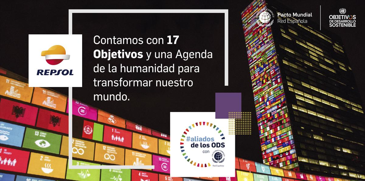 Este año celebramos el 4º aniversario de los Objetivos de Desarrollo Sostenible de @ONU_es junto con el @PactoMundial. ¿Conoces la #Agenda2030? Descubre aquí nuestro compromiso: repsol.info/2McmzzR #aliadosdelosODS #GlobalGoalsPartners