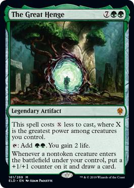 Double ramp and repeatable lifegain and card draw and anthem, easy to discount. Wow. More previews at mtgpreviews.com #MTGEldraine Source: magic.wizards.com/en/articles/ar… 🎨: @AdamPaquette