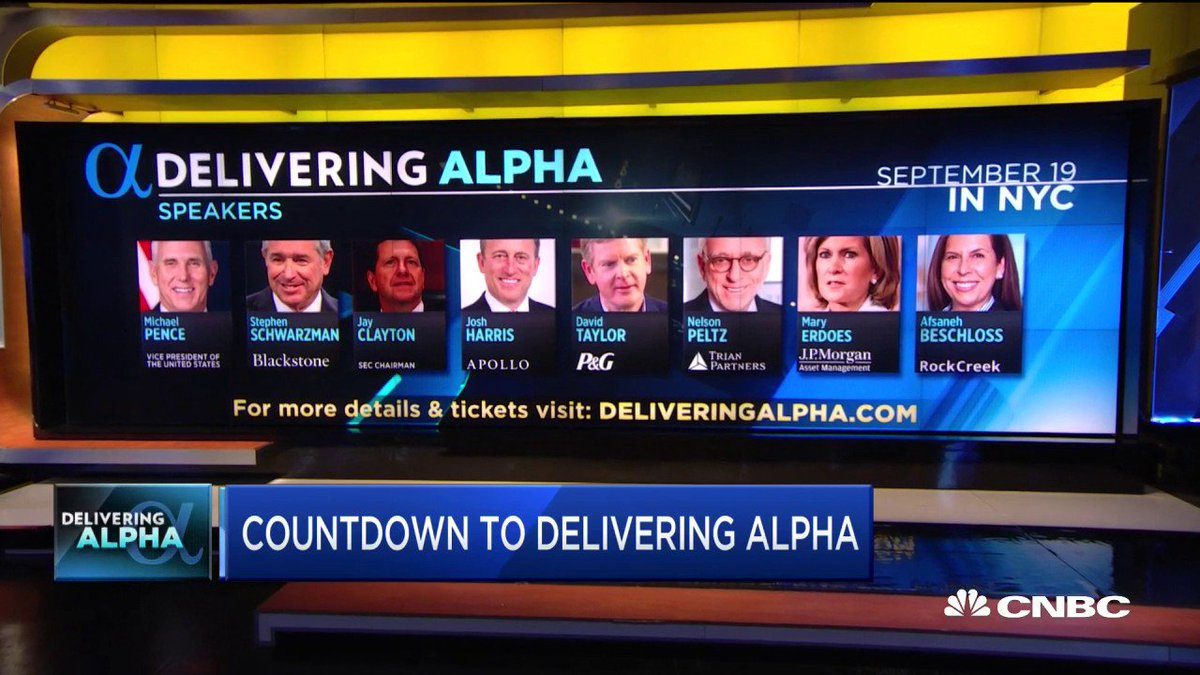 We are just ONE day away from our #DeliveringAlpha investor conference. @LesliePicker has your inside look at who will be speaking tomorrow. For the full agenda and tickets, click here: https://cnbc.com/delivering-alpha-ii/…