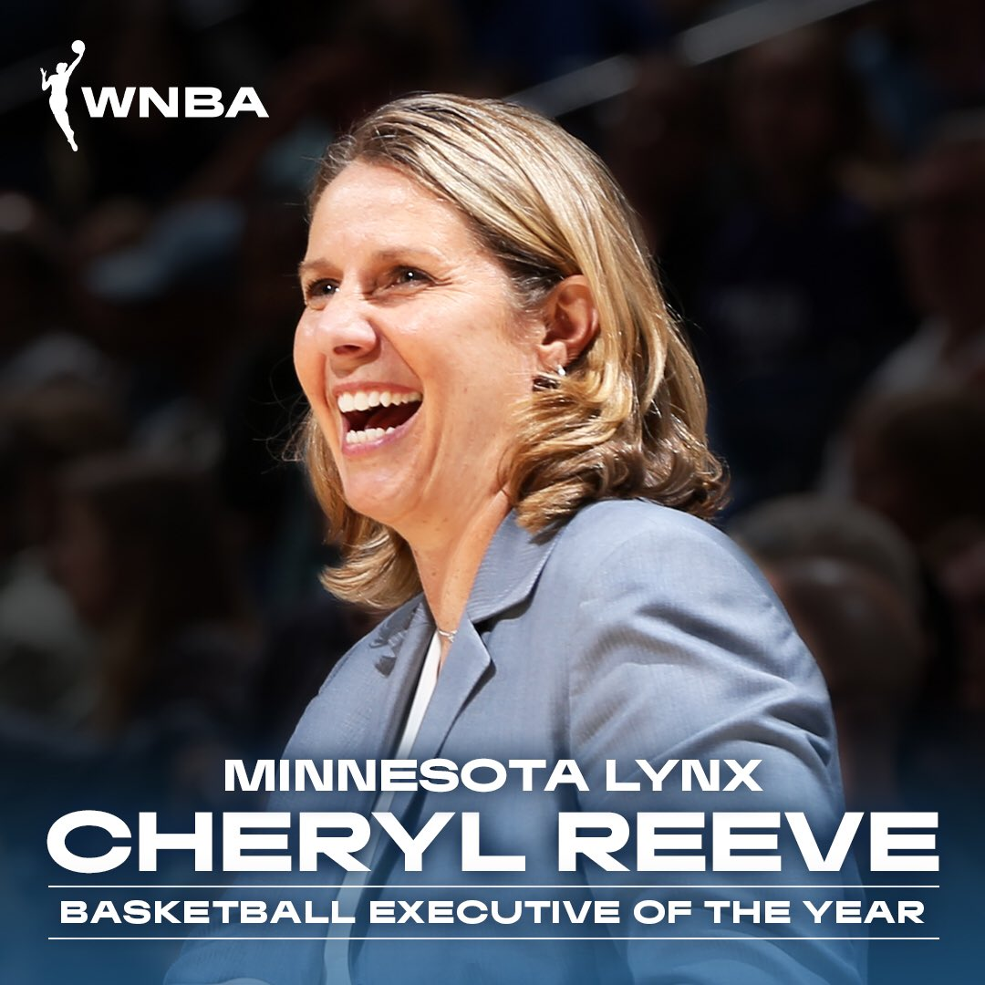 Congrats to the @LynxCoachReeve on being selected as the 2019 #WNBA Basketball Executive of the Year 👏