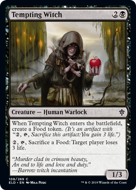 This witch came as a gift in todays gallery update. More previews at mtgpreviews.com #MTGEldraine Source: magic.wizards.com/en/articles/ar… 🎨: @milapesic8