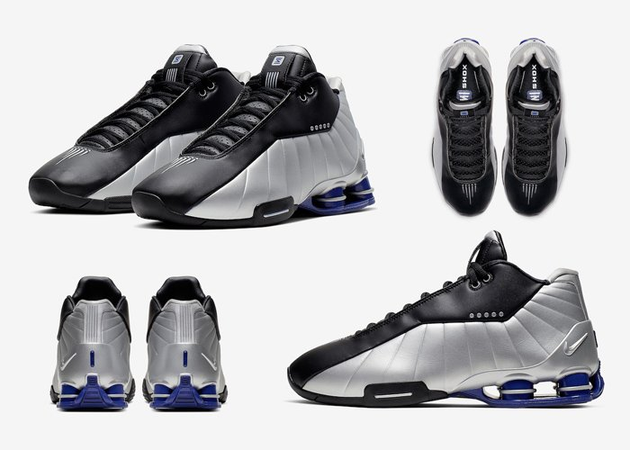 Image for the Tweet beginning: Nike Shox BB4 Black Metallic