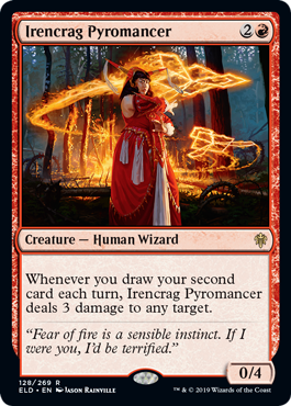 Repeatable lightning bolt just from drawing cards. More previews at mtgpreviews.com #MTGEldraine Source: coolstuffinc.com/a/aliaintrazi-… 🎨: @rhineville