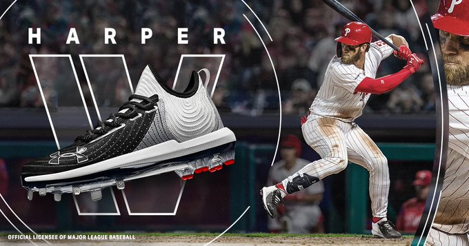 These are 🔥. RT to enter to win the @UnderArmour #Harper4.  Grab a pair: https://t.co/qbeYVsI