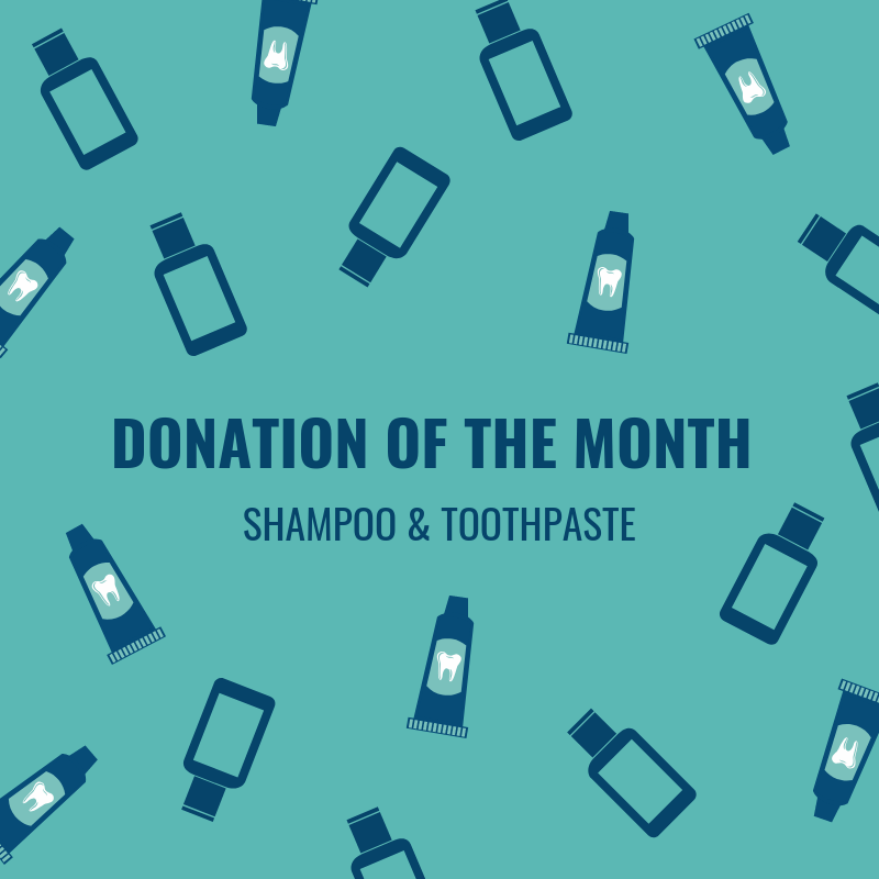 Our Donations of the Month are shampoo and toothpaste! Even basic hygiene items can help participants as they settle into their new home and allow them to focus on their housing stability. Visit http://lafh.org/donategoods to set up a donation time.