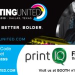 Image for the Tweet beginning: printIQ will be at #PRINTINGUnited