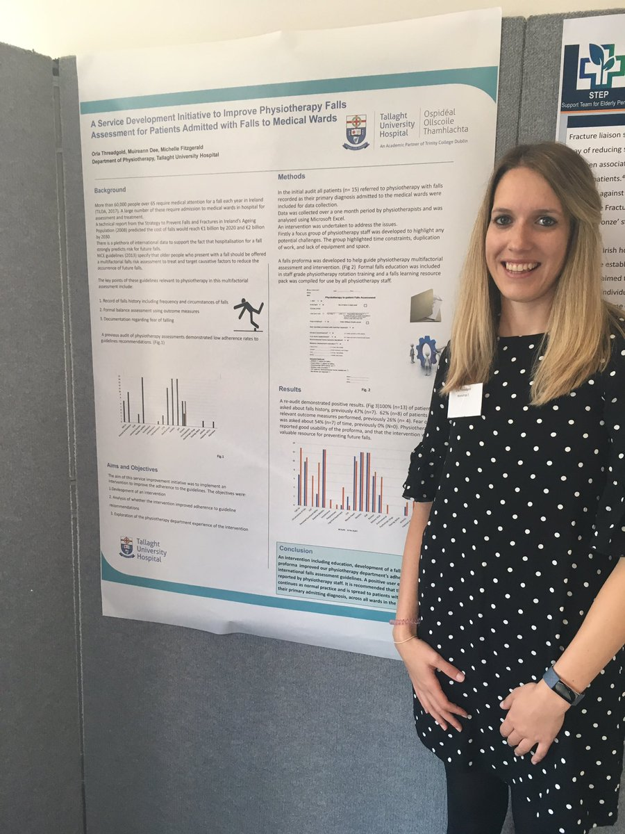 Thankful for the opportunity to present our physiotherapy service development initiative to improve multifactorial assessment and care for older persons presenting with falls to TUH at AFFINITY conference @CLDTallUniHosp @WeHSCPs @HSELive #Affinity19 #fallsandbonehealth<br>http://pic.twitter.com/rslWQnPIil