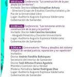 Image for the Tweet beginning: #SemanaPorLaPaz Esta es la programación
