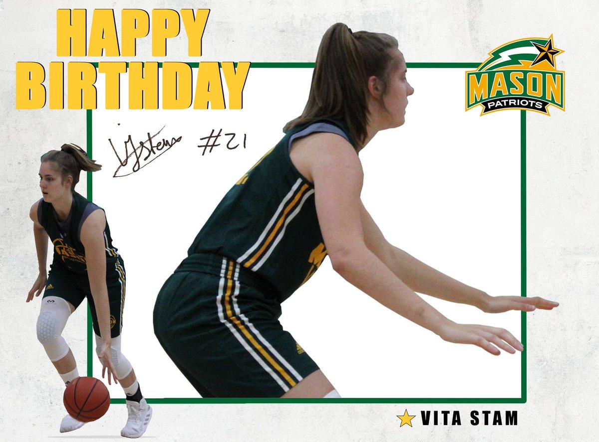RT @MasonWBB: Wishing a very happy birthday to freshman @vita_stam 🎈🎉  Have a great day #GetPatriotic https://t.co/I83xya6g7h