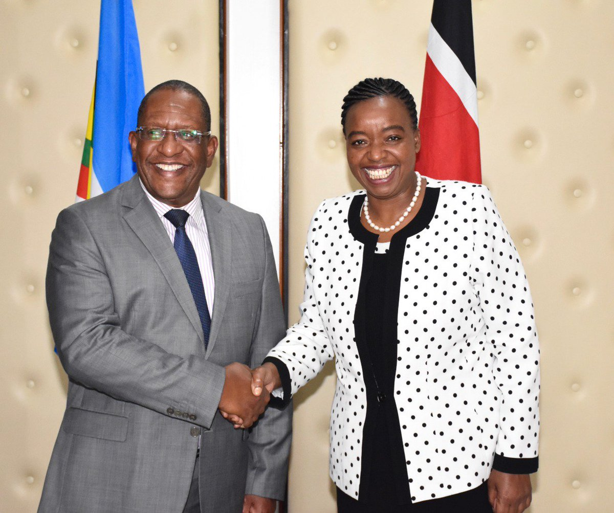 At the final ministerial briefing on the 74th session of UNGA at MFA boardroom, this afternoon. Thank you CS Kariuki, CS Tobiko for attending. All ready to go!