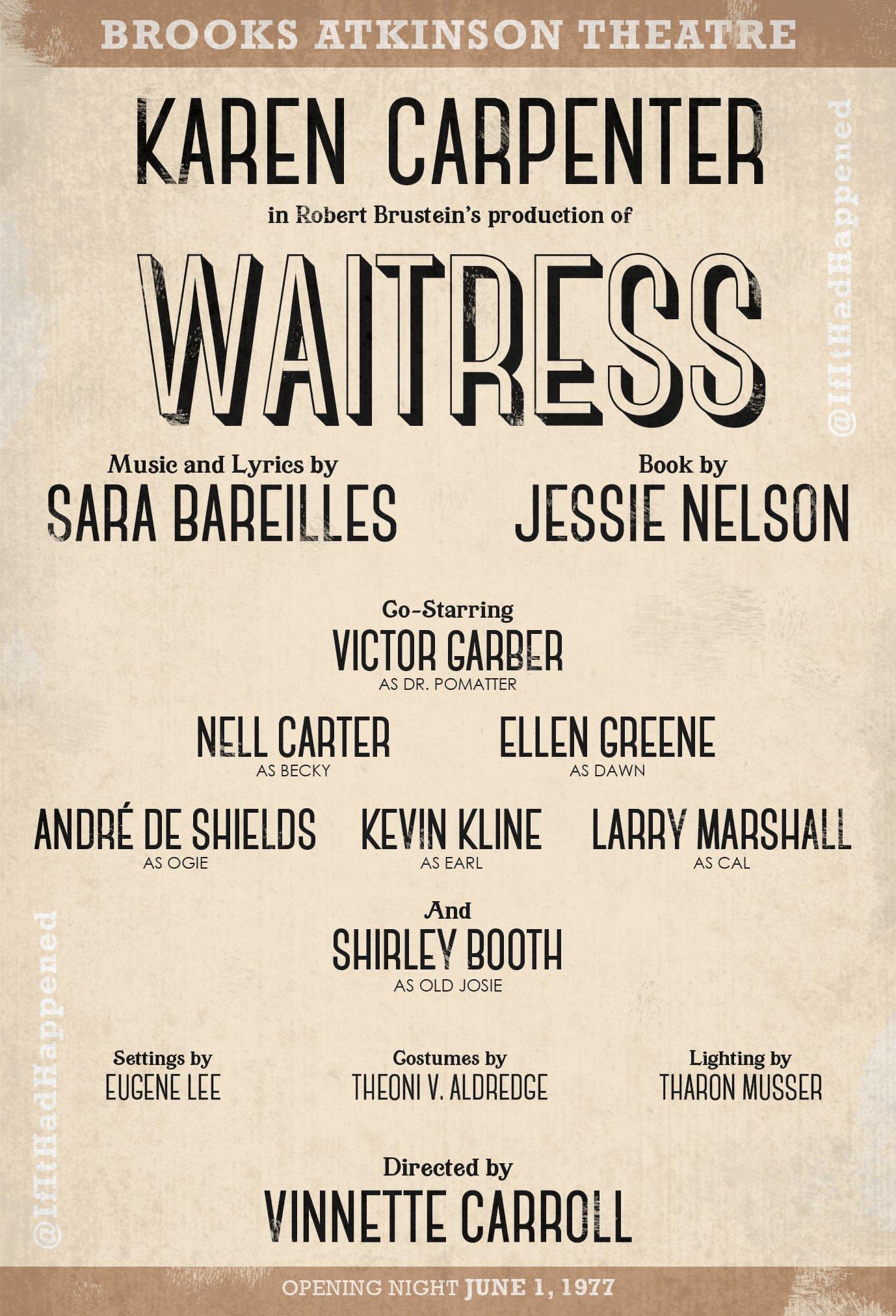 Upcoming Waitress casting