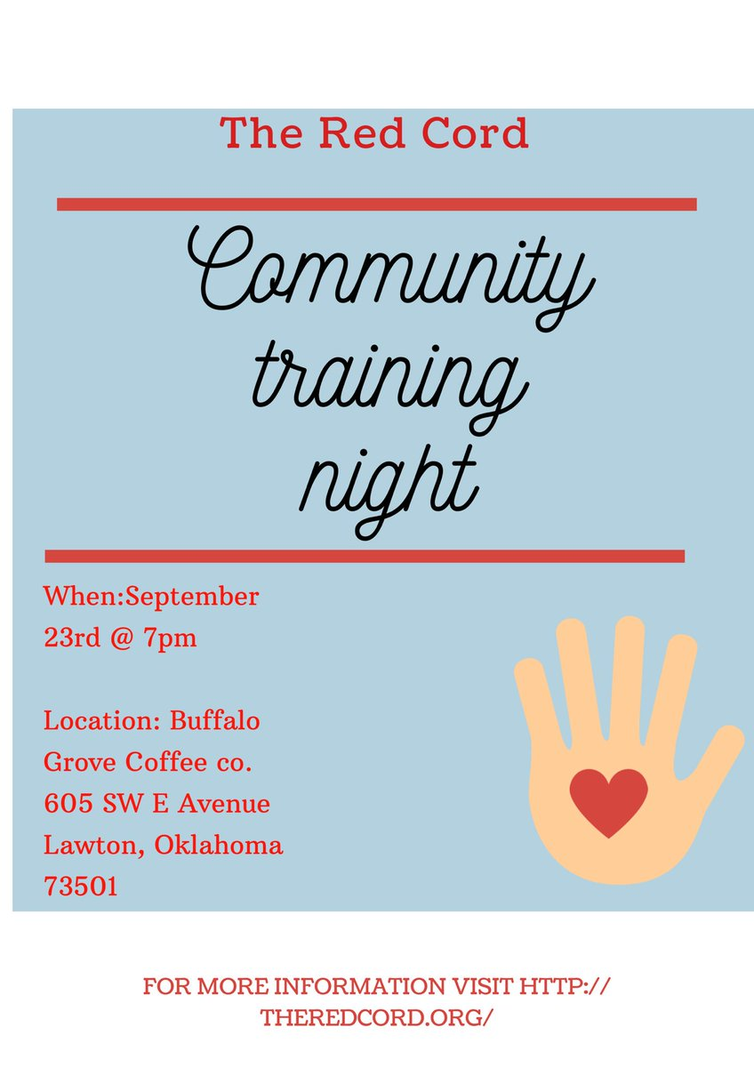 Don't miss Lawton-Fort Sill's community training night. Come find out the indicators of human trafficking, how you can join the fight and get others to join the fight. It only takes one drop of water to cause a ripple effect. ❤️ See you there!  – at Buffalo Grove Coffee Company LLC