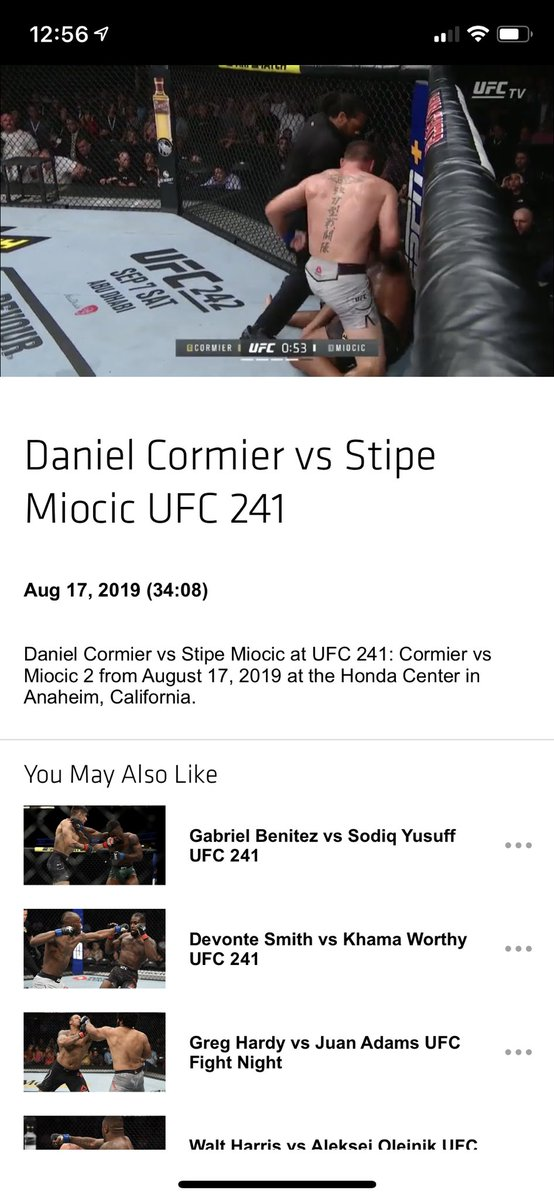 Just chilling watching the #UFC241 main event via #UFCFIGHTPASS (https://www.ufc.tv/video/daniel-cormier-vs-stipe-miocic-ufc-241 …)