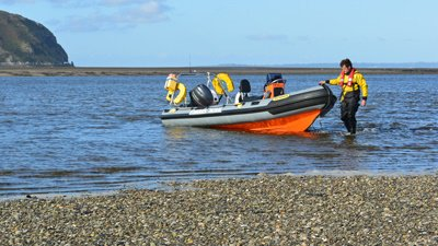 Rib Iolo utilised during the #Conwy Mussel beds survey. #FisheriesEnforcement #Mussels