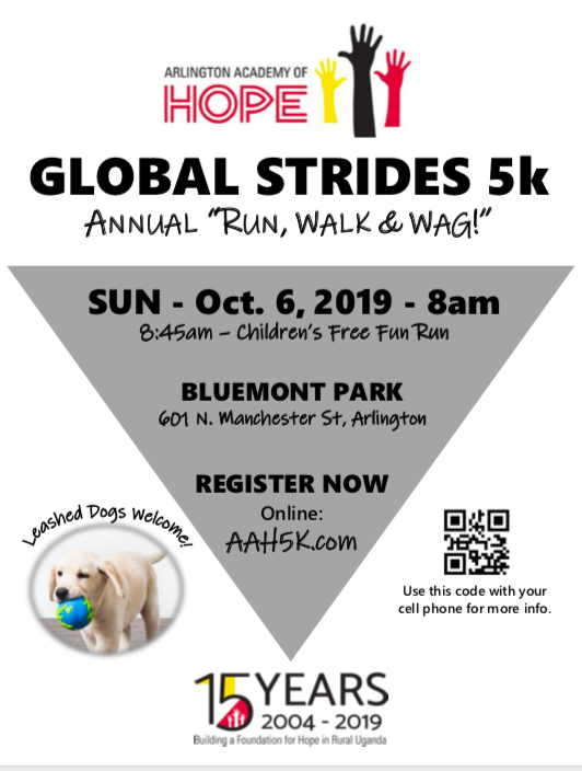 RT <a target='_blank' href='http://twitter.com/TuckahoeSchool'>@TuckahoeSchool</a>: Don't forget to register for the Global Strides 5K supporting the Arlington Academy of Hope! <a target='_blank' href='https://t.co/o9tiSVod3F'>https://t.co/o9tiSVod3F</a>
