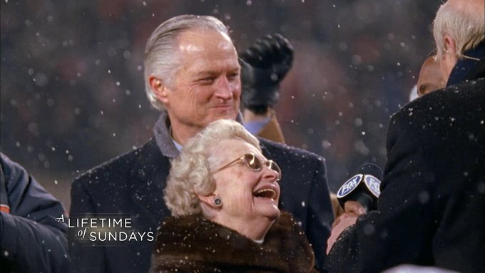 Mrs. Virginia McCaskey's purpose in life is to keep her father's legacy.  Watch #ALifetimeOfSundays on @NFLNetwork this Friday at 3pm ET  #Bears100 | #NF
