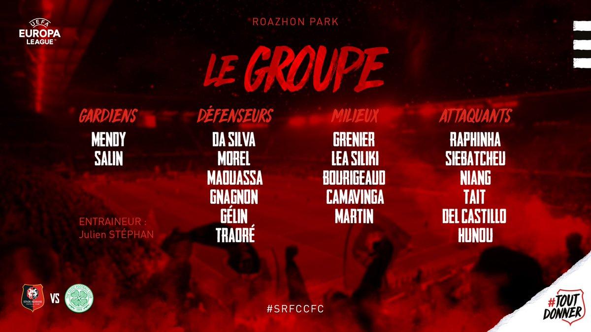 Rennes : le groupe pour la venue du Celtic est tombé