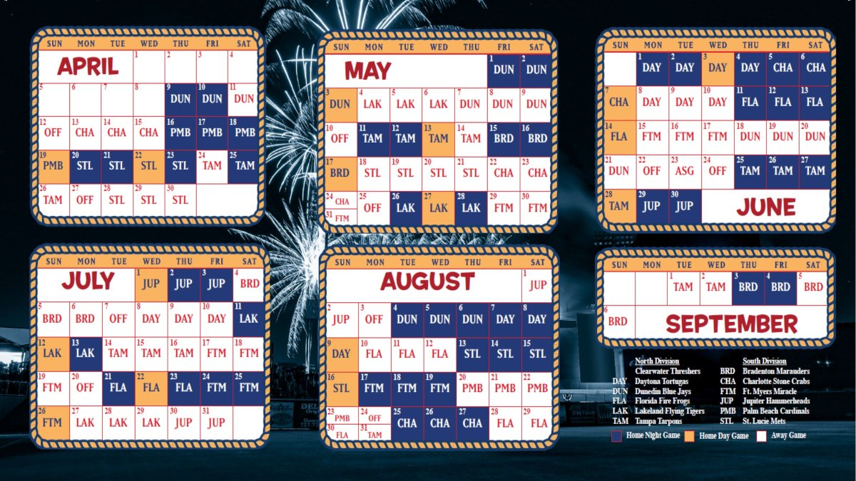 Schedule C 2020.Clearwater Threshers Baseball On Twitter We Ve Got 2020