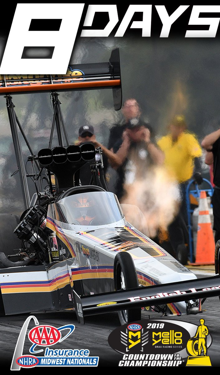 We're still counting down!  8 days until the AAA Insurance @NHRA Midwest Nationals at @WWTRaceway!  Mark your calendars and make your plans now! 🎟: https://t.co/Bui0cZUjW8 https://t.co/Kb37Fm6cxb