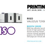 Image for the Tweet beginning: .@risoprinter (Booth 10935) has officially