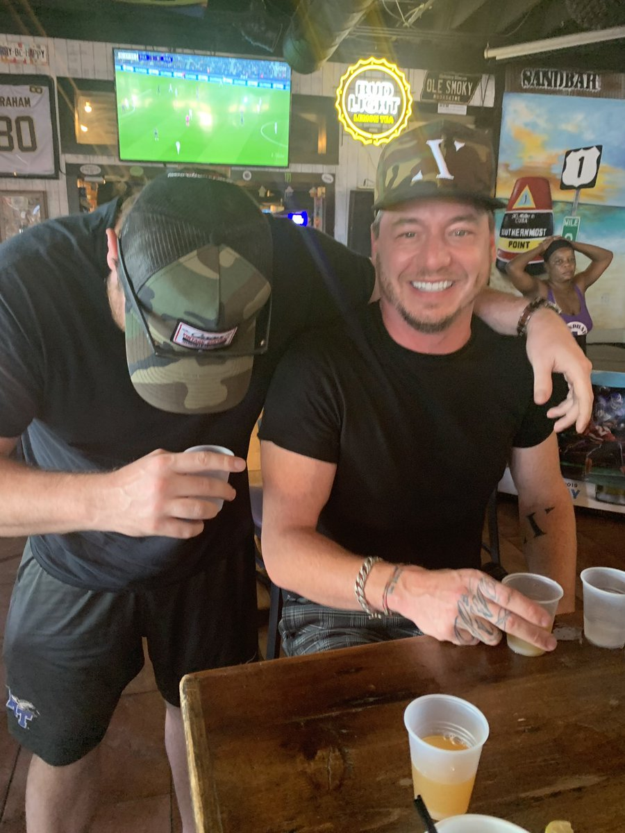 I love this photo. Someone I've known for years and years. Great songwriter and even though you can't see my face I'm laughing because I do that often around him. Love ya Stone! #friendstrip #vacation<br>http://pic.twitter.com/UIUxulzLlc