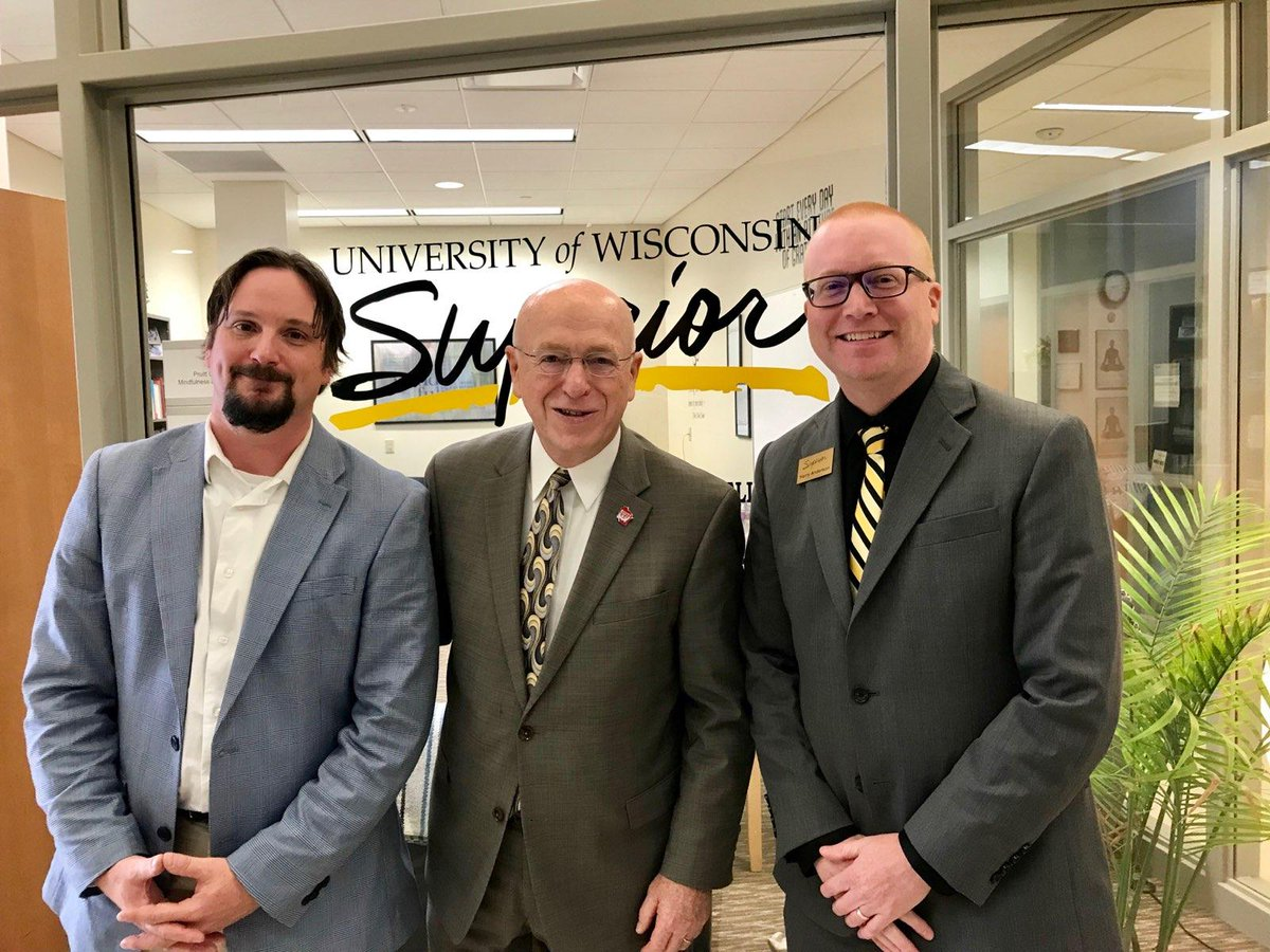 Thank you, @RayWCross & Jeff Buhrandt for visiting campus today for tours & meeting with students, faculty & staff. President Cross is pictured with Randy Barker, Interim Director of Counseling Services, Health Services Counselor & Harry Anderson, Dean of Students. https://t.co/nffluYV4eG