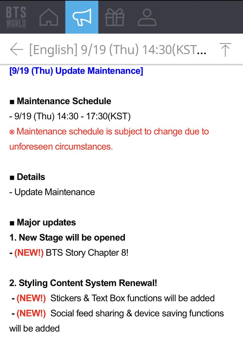 BTSWORLD UPDATE that's scheduled for today A lot of changes!