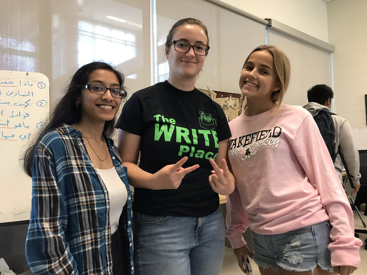The WRITE Place is OPEN for business! We can help you start a writing assignment OR just check something you have already written. Stop by C-116 during ANY WP or DAY 2 LUNCH! <a target='_blank' href='https://t.co/0qQWE2WTp8'>https://t.co/0qQWE2WTp8</a>