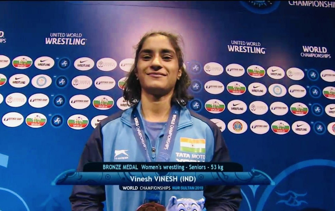 ✅Bronze in World Wrestling Championships(53 kg) ✅1st🇮🇳 wrestler to qualify for Tokyo Olympics 2020✅1st🇮🇳 woman wrestler to qualify for 2 Olympics✅5th🇮🇳 woman wrestler to win Worlds medalVinesh Phogat beats 2-time Worlds medalist Maria Prevolaraki(Greece) 4-1.Congrats🙏🇮🇳