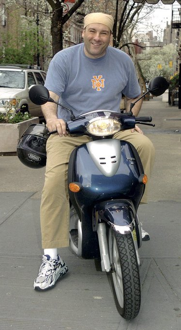 Happy birthday to James Gandolfini and these all-encompassing pictures of him on a vespa
