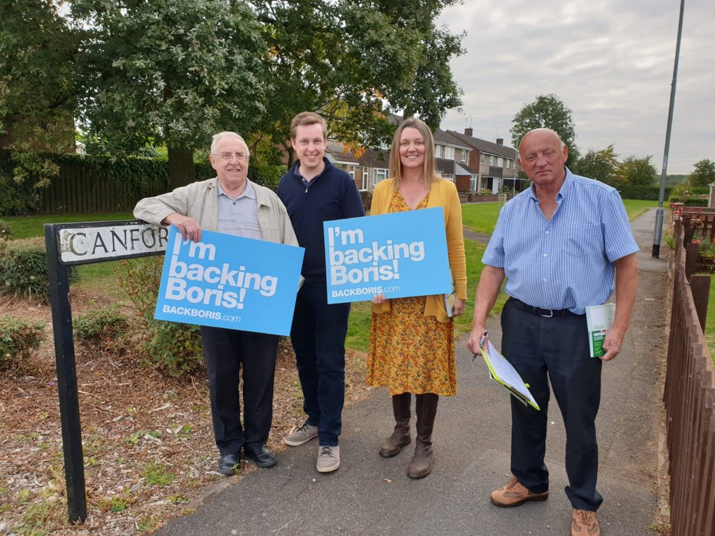 Now off knocking on doors in Beanfield Ward in Corby to support the fantastic Ray Boyd as part of his by-election campaign. Vote Conservative!
