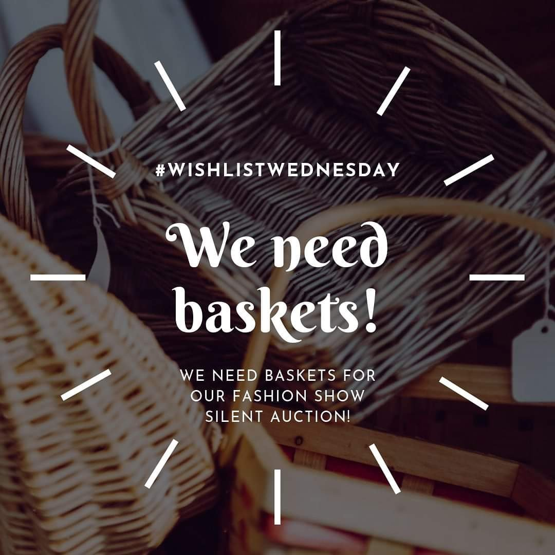 Its #WishlistWednesday and we need baskets to assemble our fabulous silent auction goods! If you have any extra baskets and would like to donate, send us a message, email mbroady@setonyouthshelters.org, or call Michelle at 757.963.5795 ext. 103.