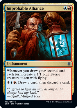And a couple more UR card draw archetype uncommons as well. More previews at mtgpreviews.com #MTGEldraine Source: twitter.com/HueyJensen/sta… 🎨: @yozartwork