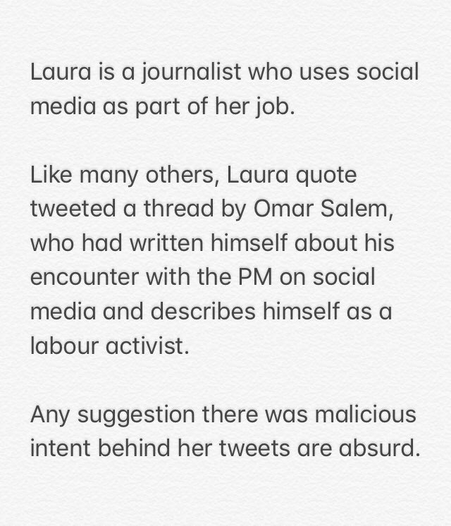 BBC statement about Laura Kuenssberg