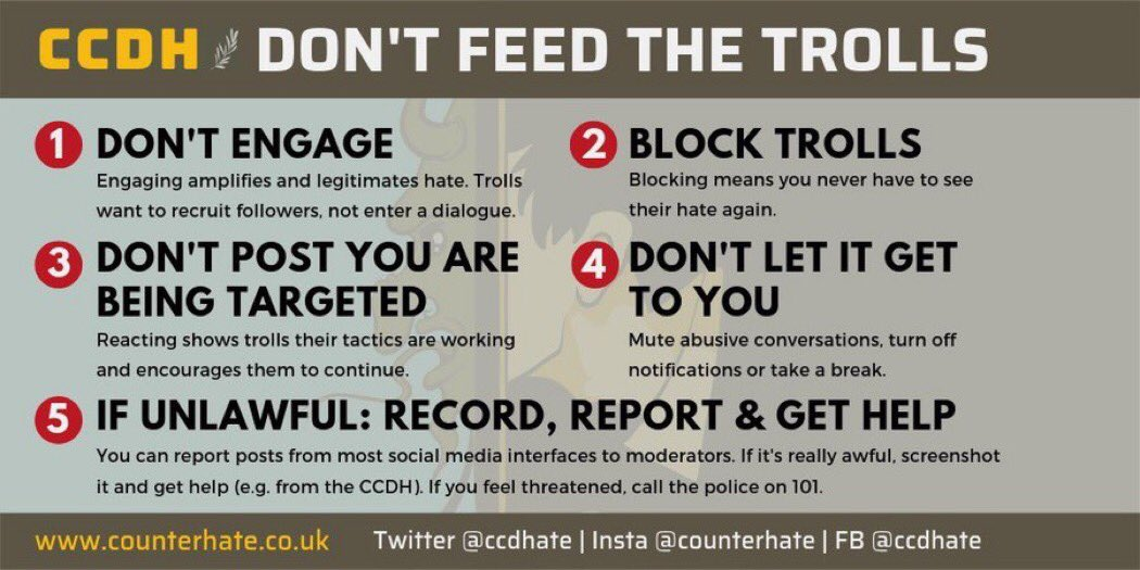 Was asked some pretty inflammatory questions on @Peston tonight so a preemptive reminder for myself as well as others, this is the best researched advice there is on how to minimise the effectiveness of trolling. #DontFeedTheTrolls And where my mindset's at right now. Night! 👋
