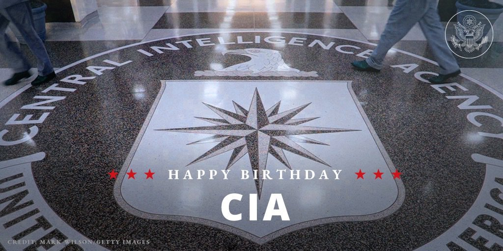 Happy 72nd Birthday to the @CIA.