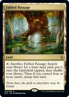 A new evolving wilds that turns into a better prismatic vista in the late game. More previews at mtgpreviews.com #MTGEldraine Source: magic.facetofacegames.com/exclusive-thro… 🎨: @howardlyonart