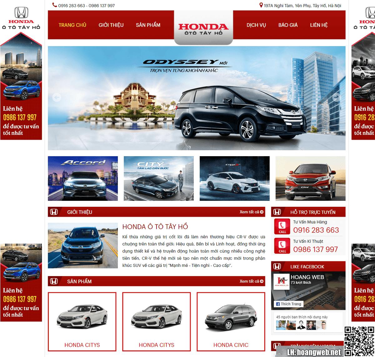 Mẫu web ôtô nhập khẩu thumbnail