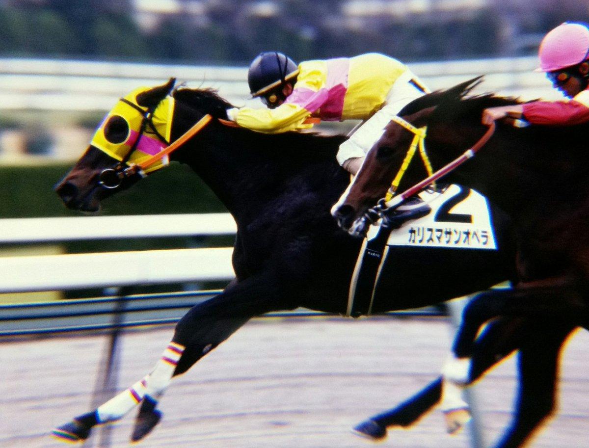 プレイバック 平成 カリスマサンオペラ 父 オペラハウス 母は83年桜花賞2着のミホクイーン クラシックはオークス、秋華賞に出走。01年中山金杯を8人気ながら50キロの軽ハンデを生かし勝利し21世紀最初の重賞勝ち馬となった数少ないオペラハウス産駒の牝馬の重賞ウイナー🐎 写真は初勝利時📷