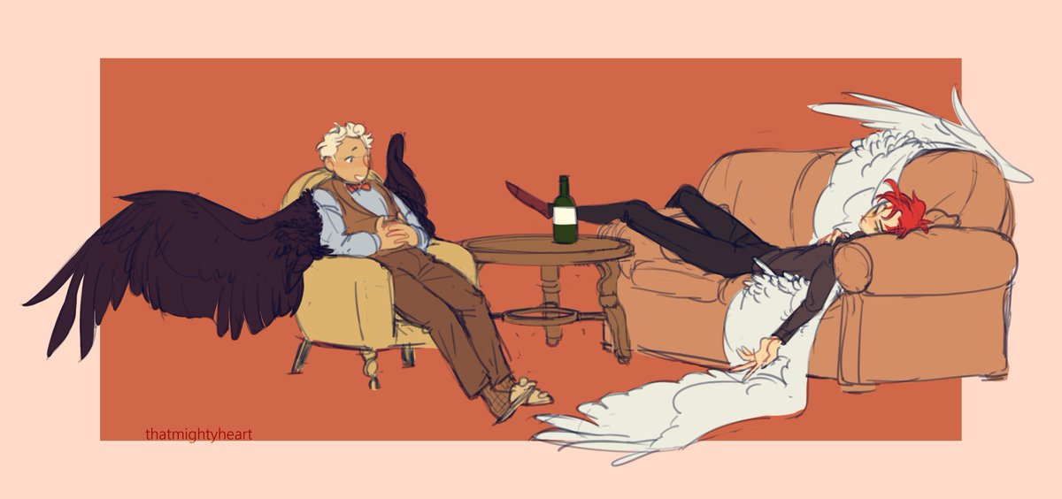 [good omens] more wing swap au (1/2) <br>http://pic.twitter.com/CPwN1b4hcB