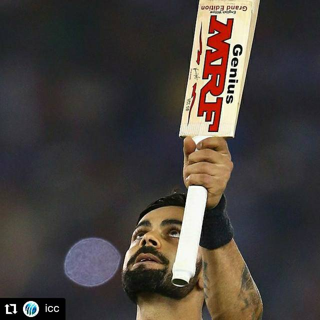 If 'Virat Kohli' was a verb, how would you use it?   #ViratKohli #TeamIndia #PlayBold  #Repost Icc •  What is it about Virat Kohli and T20I run chases in Mohali?  He finishes on 72* as India beat South Africa by seven wickets with an over to spare!  #INDvSA<br>http://pic.twitter.com/VUmzjrLTJM