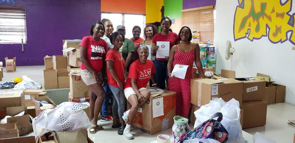 Not even Hurricane Dorian could stop this sisterhood—we are firmly committed to providing aid and relief to our brothers and sisters of The Bahamas. Southern Region Deltas continue to serve up and step up #BahamasDST #BahamianGreeks #SupportBahamasDST #serviceinourheart <br>http://pic.twitter.com/vKfRURRceA