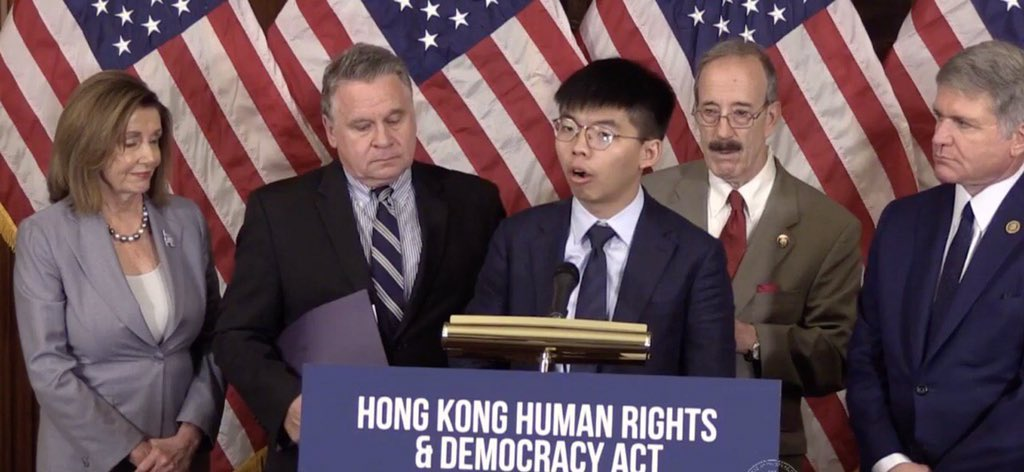 Tremendous bipartisan support lies a head. That's the new chapter of US-HK relation. Thank you for the support from @SpeakerPelosi @RepEliotEngel @RepMcCaul @RepMcGovern #HKHumanRightsandDemocracyAct