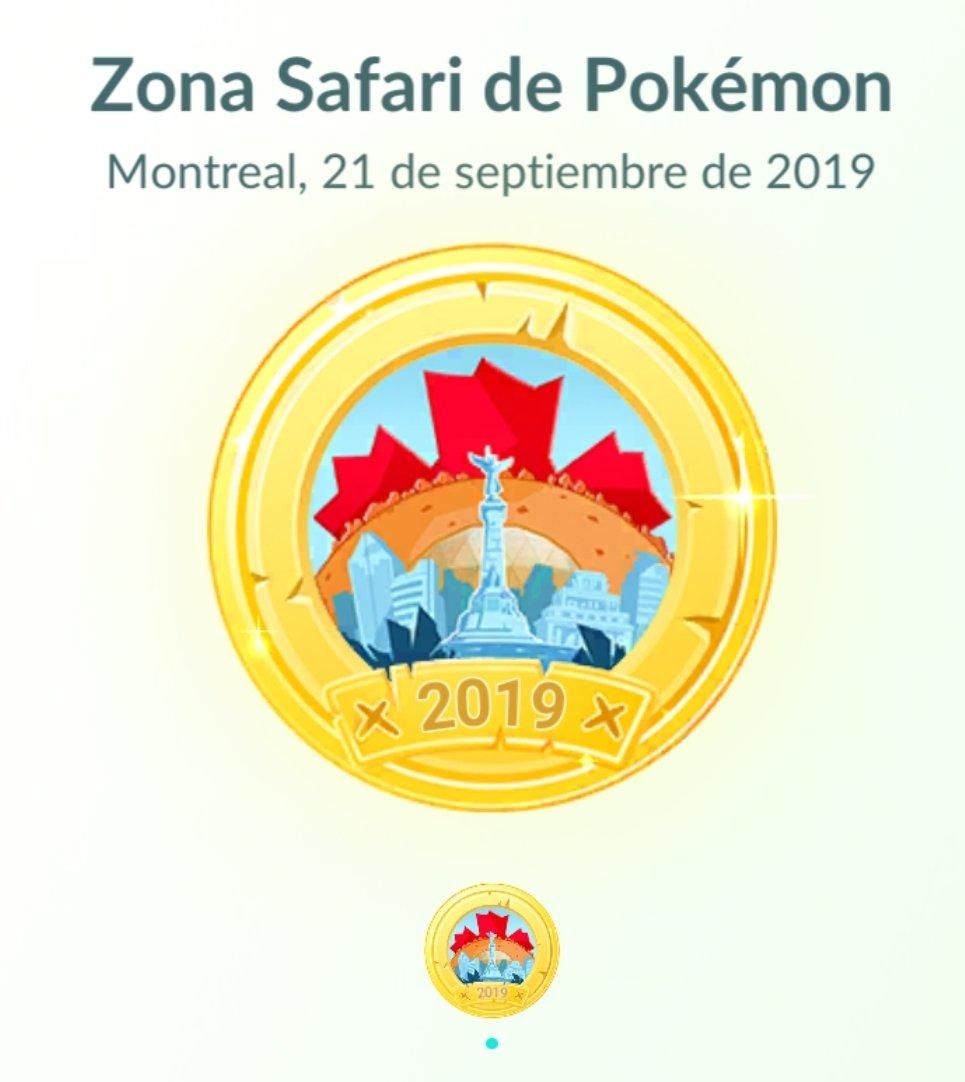 La medalla de la Zona Safari de Montreal ya está disponible en Pokémon GO