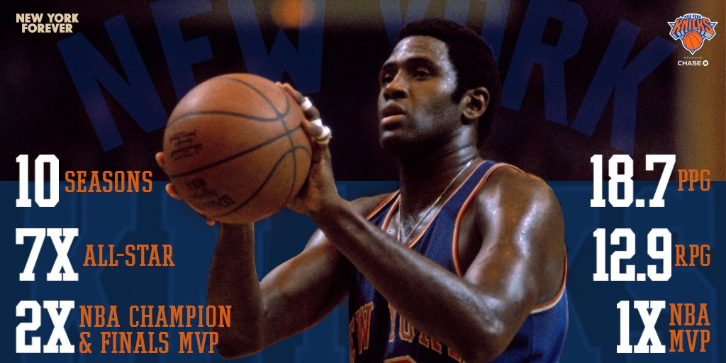 On This Day in Knicks History (1974): Willis Reed retired after 10 LEGENDARY seasons in the orange and blue. Give it 🆙☝️⏰ for The Captain. #NewYorkForever