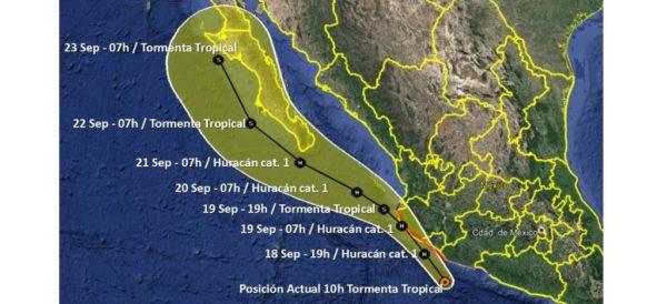 "Activan Alerta Naranja en Sinaloa, Nayarit, Jalisco, Colima, Michoacán, Guerrero y Jalisco por tormenta tropical ""Lorena"" http://ow.ly/K4Nm30pyRyr"