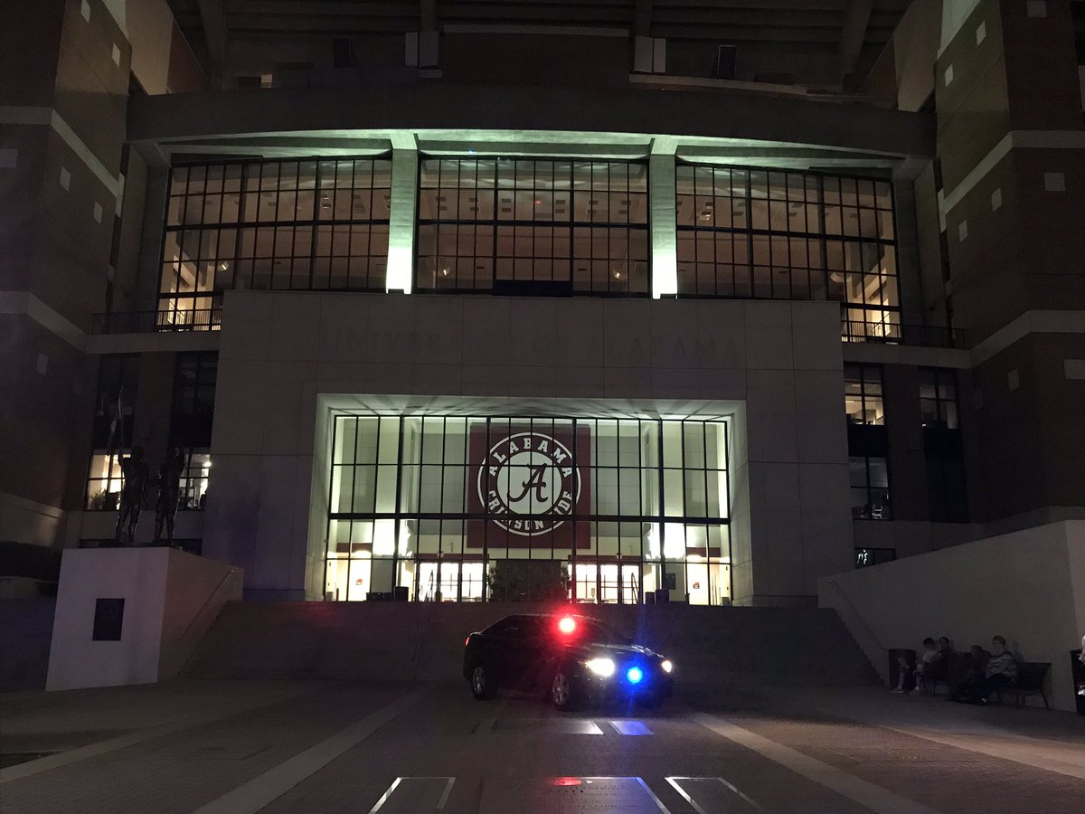Crimson Tide's Bryant-Denny Stadium Goes Blue To Honor Fallen Police Officer