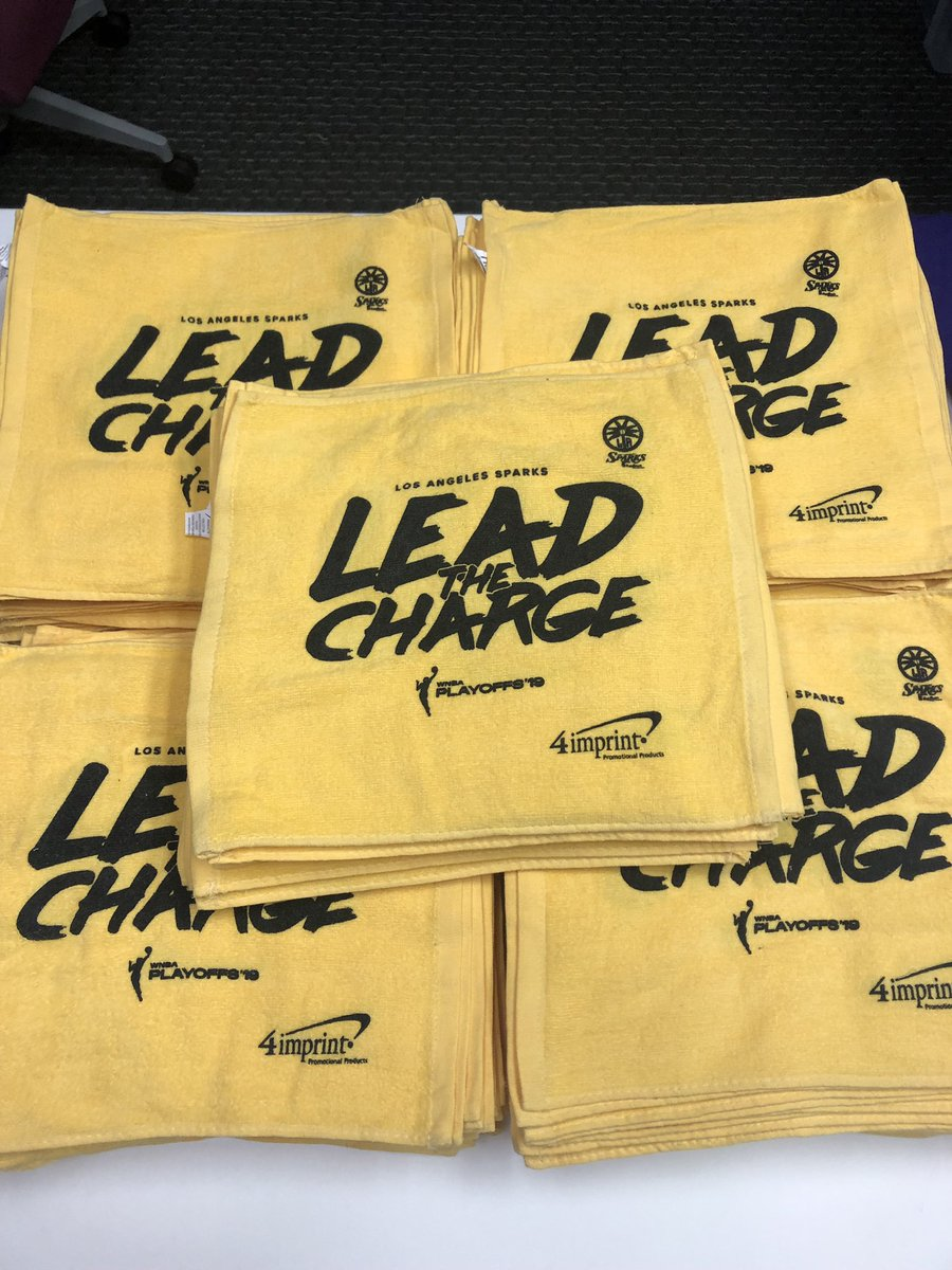 "Sparks fans, you don't want to miss out on this AWESOME giveaway at this Sunday's playoff game!🙌  First 2,500 fans will receive a limited edition ""Lead The Charge"" rally towel🔥  🎟 http://bit.ly/SparksSemiG3    #GoSparks #LeadTheCharge #WNBAPlayoffs"