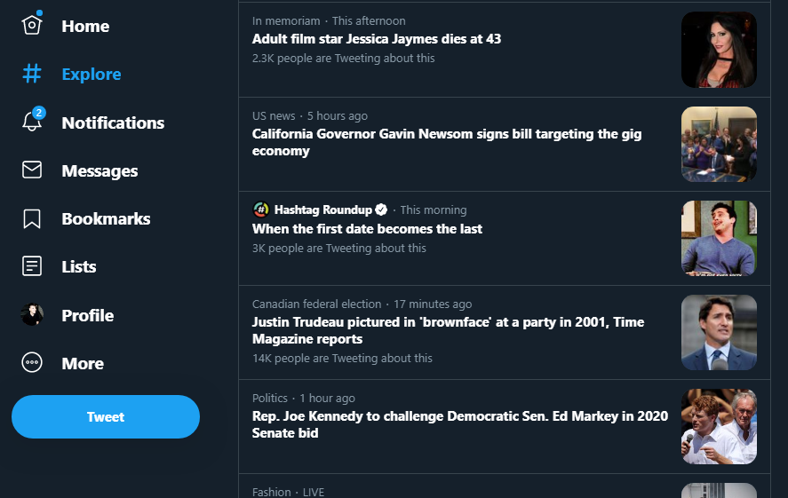 Why is the Trudeau story not the top trending item? It broke an hour ago and has 14k tweets, meaning it has the most volume *and* the highest velocity.