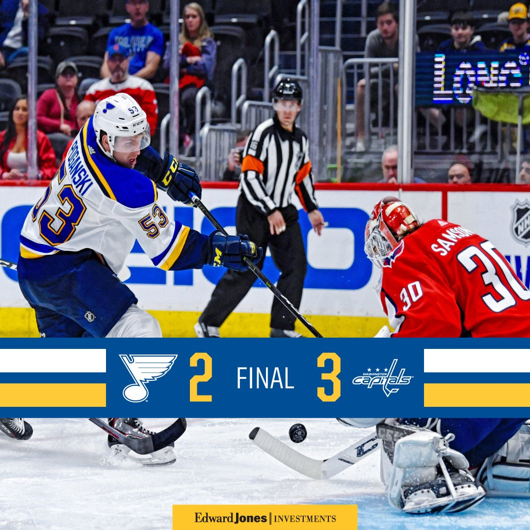 The Capitals get the win tonight as the #stlblues move to 1-1 on the preseason. Poganski and Sanford register the goals for the Blues.